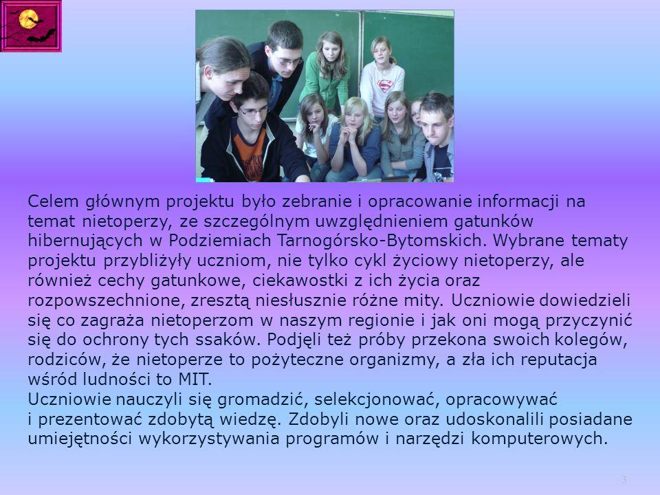 http://nietoperze-naszymi- przyjaciolmi.blog.onet.pl/ 14 Słuchowiska: http://www.wrzuta.pl/audio/ljcgzdbuRb/hibernacja_w_swiecie_zwierzat http://www.wrzuta.pl/audio/rSyWTvBXhZ/tarnogorskie_podziemia