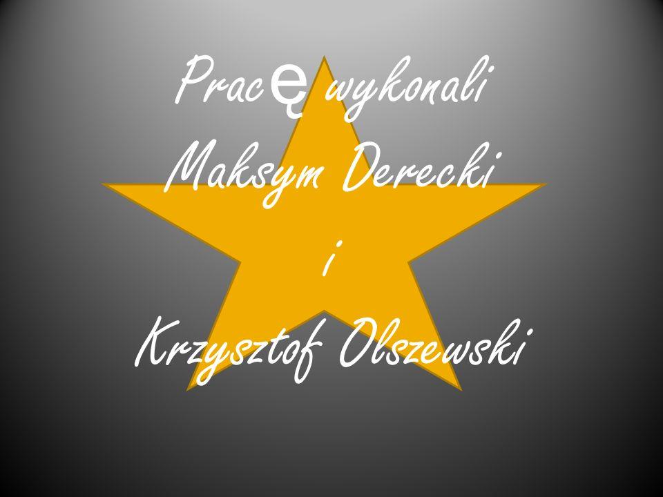 Prac ę wykonali Maksym Derecki i Krzysztof Olszewski
