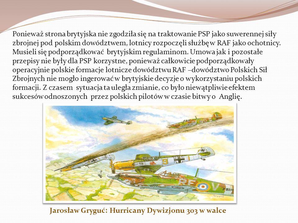 Zawarte jeszcze w październiku 1939 roku w Paryżu porozumienie dotyczące organizacji Polskich Sił Powietrznych (PSP), dotyczyło również formowania pol