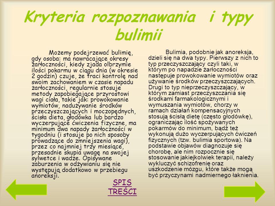 Specyfika choroby Schorzenie to należy odróżnić od zaburzeń związanych z objadaniem się. Chorzy na bulimię, choć zdają sobie sprawę z utraty kontroli