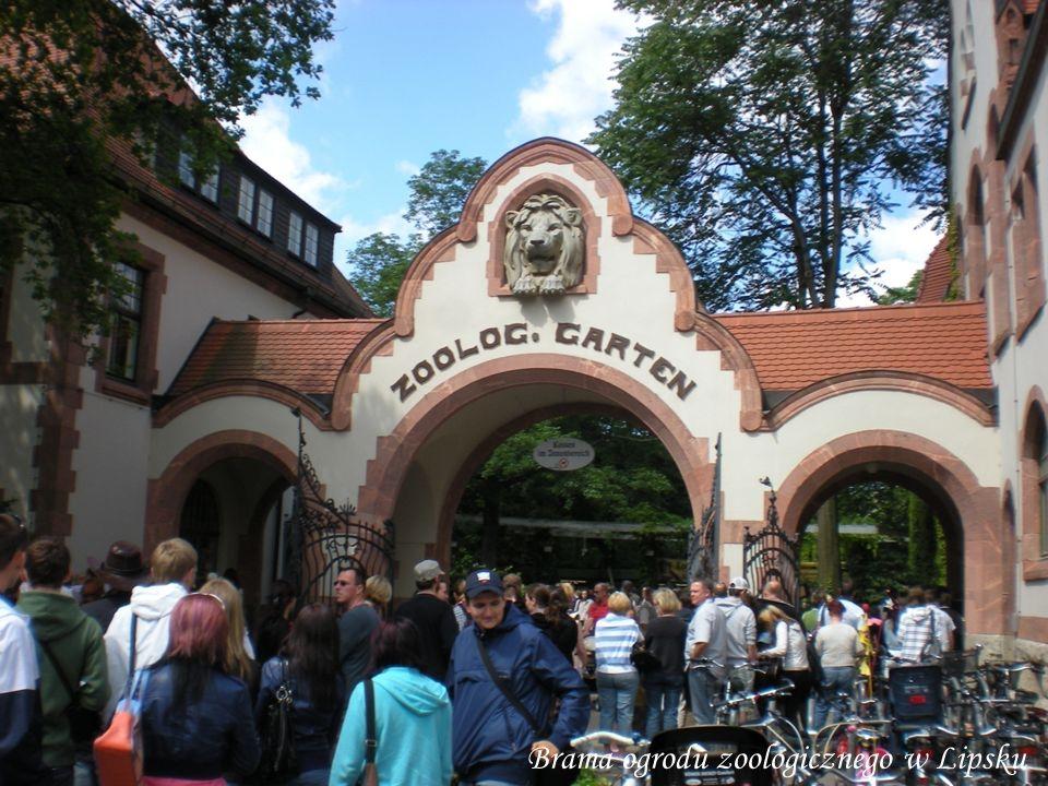 Brama ogrodu zoologicznego w Lipsku