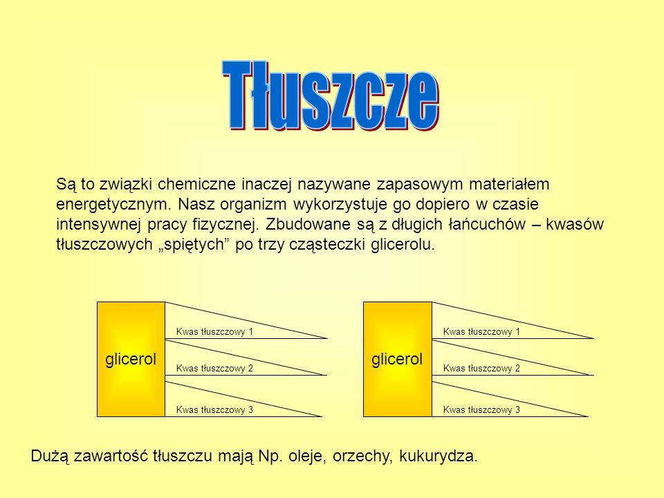 Są to związki chemiczne inaczej nazywane zapasowym materiałem energetycznym. Nasz organizm wykorzystuje go dopiero w czasie intensywnej pracy fizyczne