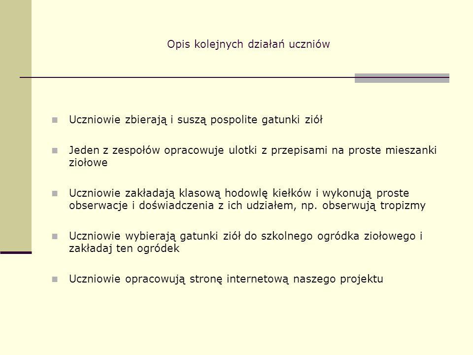 Rezultaty pracy uczniów 1.
