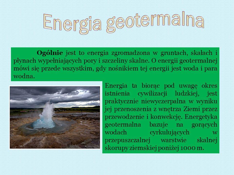Energia ta biorąc pod uwagę okres istnienia cywilizacji ludzkiej, jest praktycznie niewyczerpalna w wyniku jej przenoszenia z wnętrza Ziemi przez prze
