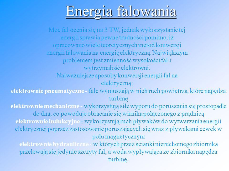 Współcześnie stosowane turbiny wiatrowe przekształcają ją na energię mechaniczną, która dalej zamieniana jest na elektryczną.