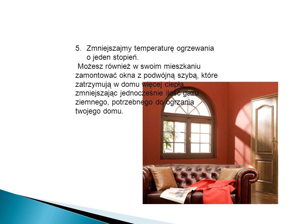 5.Zmniejszajmy temperaturę ogrzewania o jeden stopień. Możesz również w swoim mieszkaniu zamontować okna z podwójną szybą, które zatrzymują w domu wię