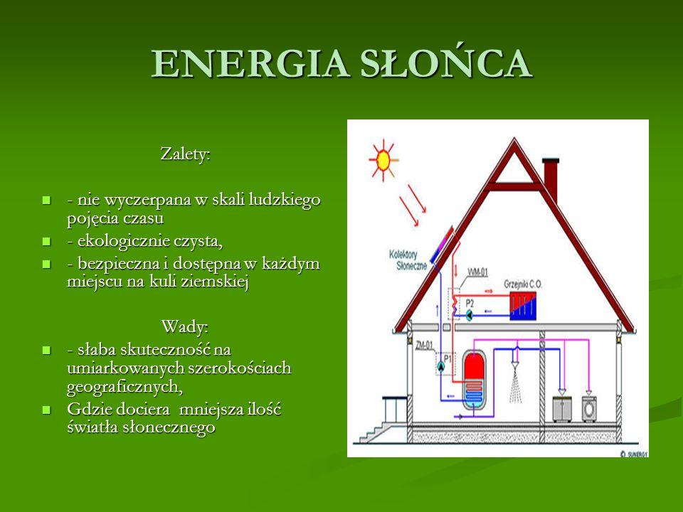 ENERGIA GEOTERMALNA O atrakcyjności tych źródła świadczą: dostępność, źródła ich nie podlegają wahaniom warunków pogodowych i klimatycznych, dostępność, źródła ich nie podlegają wahaniom warunków pogodowych i klimatycznych, są to źródła nie ulegające wyczerpaniu, są to źródła nie ulegające wyczerpaniu, obojętność dla środowiska - geotermia nie powoduje wydzielania jakichkolwiek szkodliwych substancji, obojętność dla środowiska - geotermia nie powoduje wydzielania jakichkolwiek szkodliwych substancji, urządzenia techniki geotermalnej nie zajmują wiele miejsca i nie wpływają prawie wcale na wygląd krajobrazu.