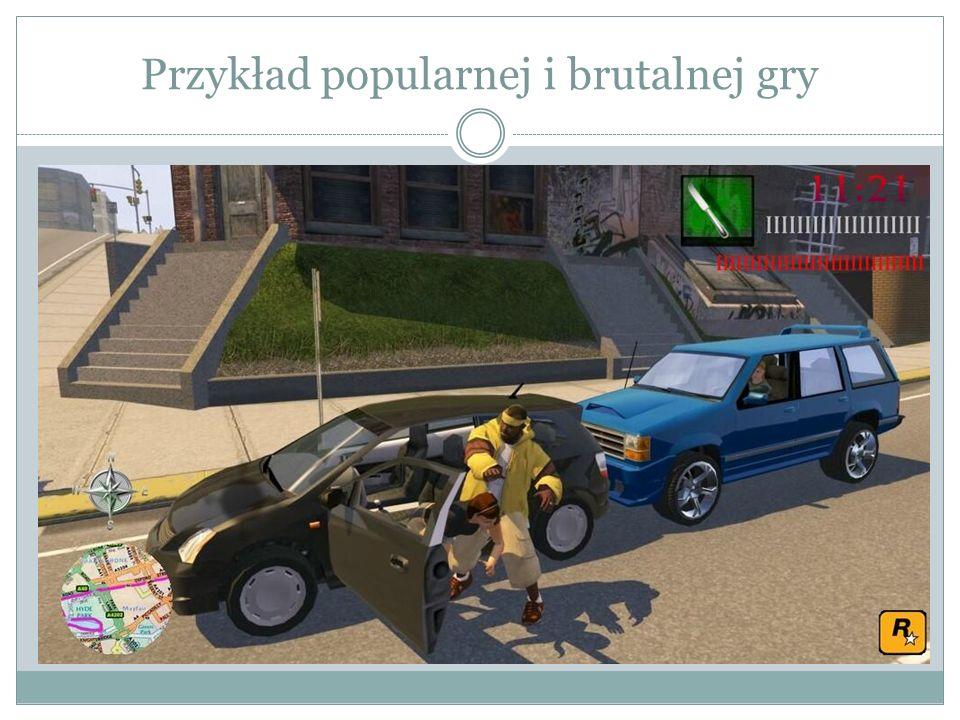 Przykład popularnej i brutalnej gry