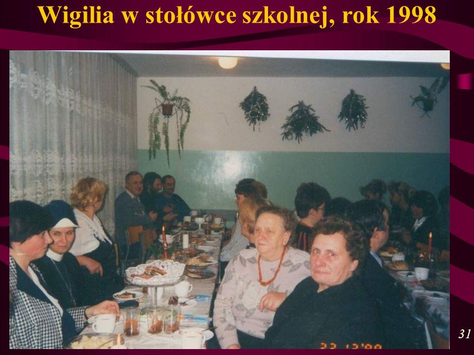 Wigilia w stołówce szkolnej, rok 1998 31