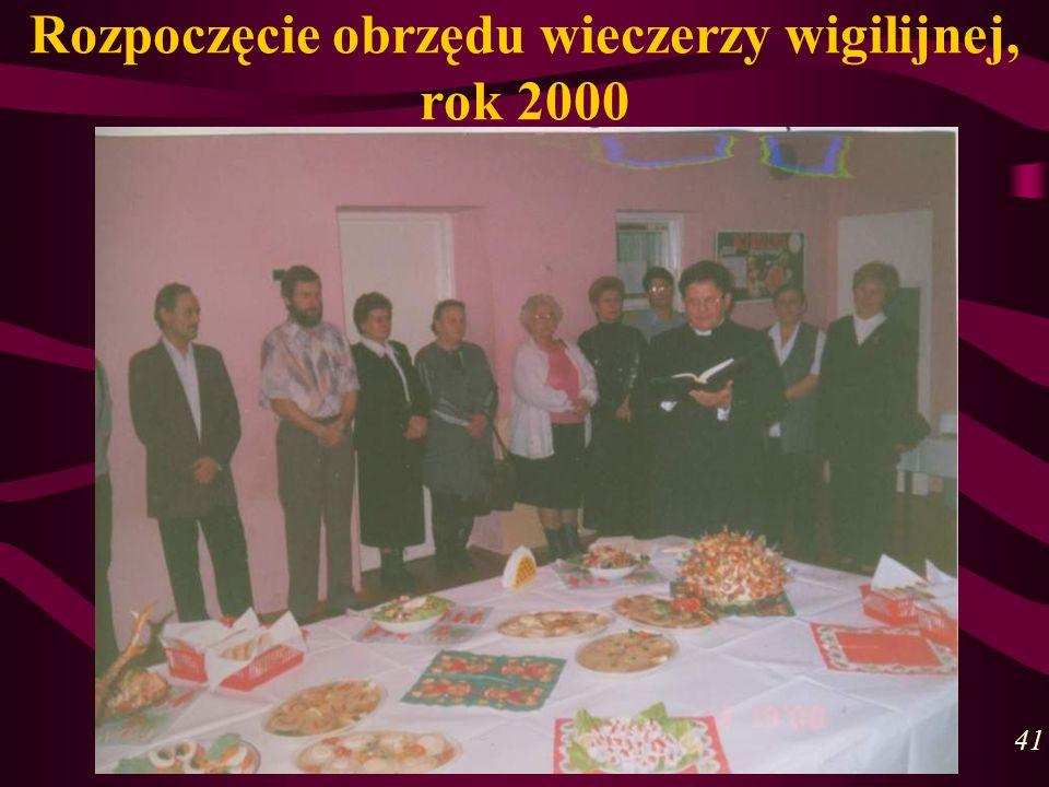 Rozpoczęcie obrzędu wieczerzy wigilijnej, rok 2000 41
