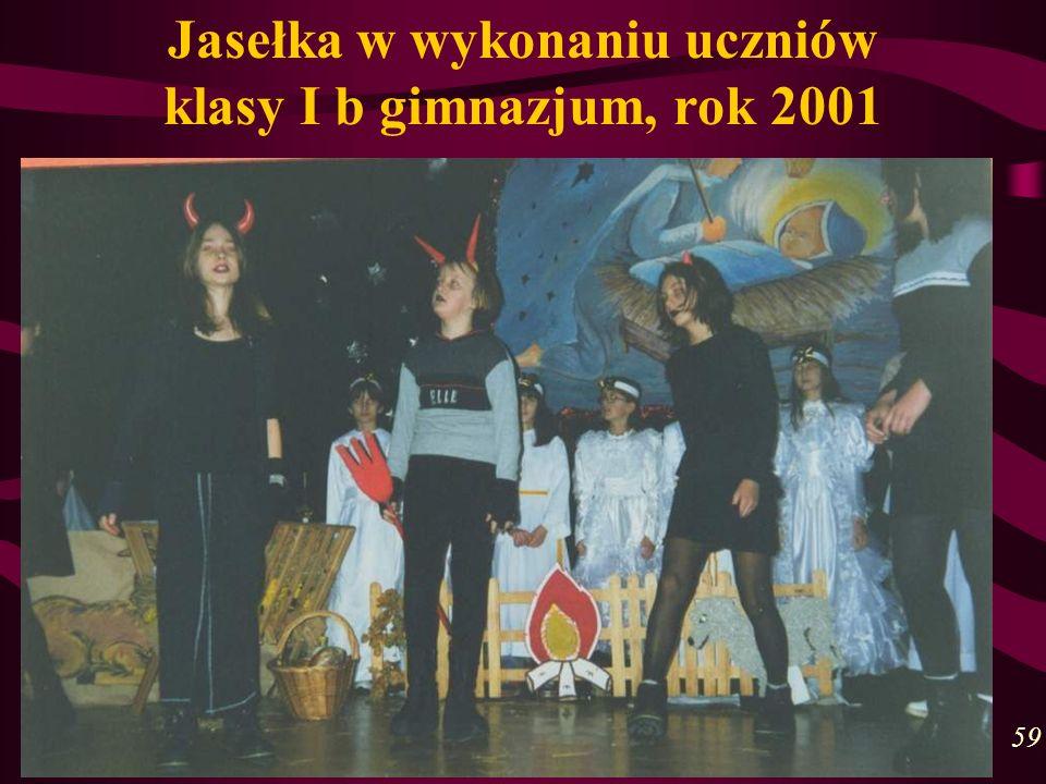 Jasełka w wykonaniu uczniów klasy I b gimnazjum, rok 2001 59