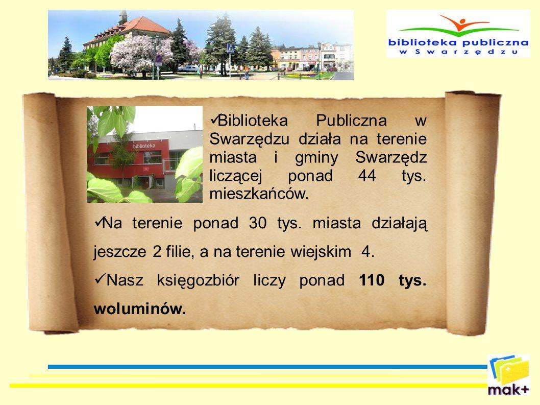 Biblioteka Publiczna w Swarzędzu działa na terenie miasta i gminy Swarzędz liczącej ponad 44 tys. mieszkańców. Na terenie ponad 30 tys. miasta działaj