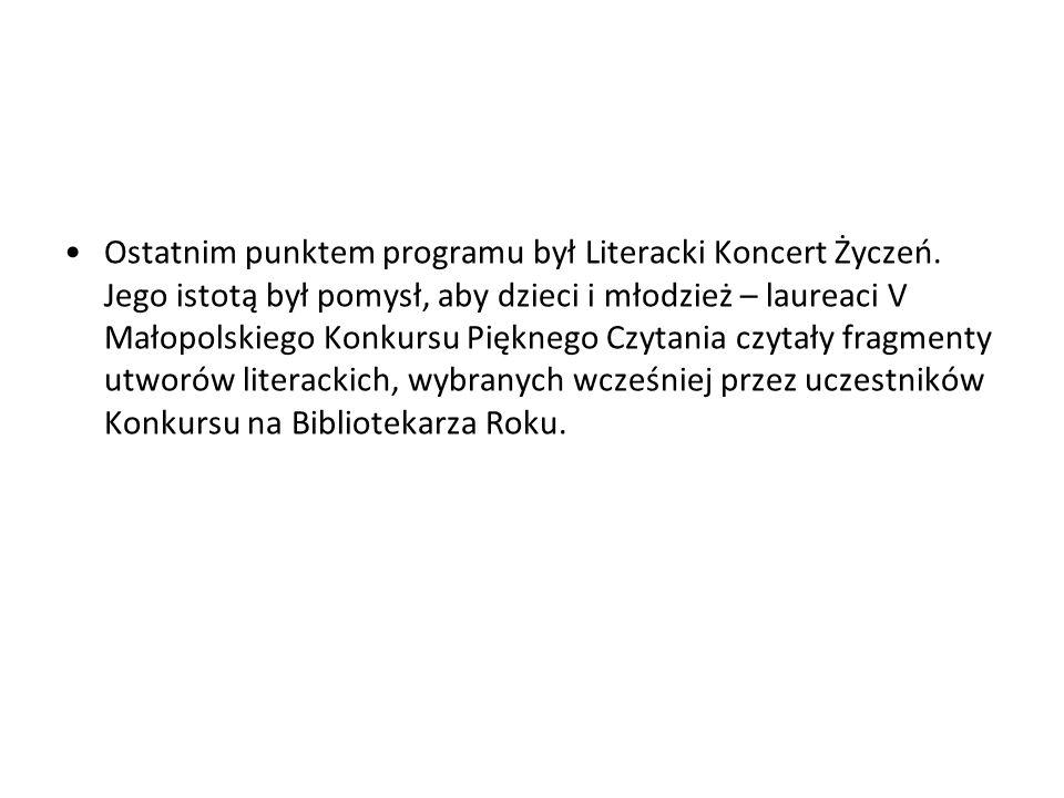 Ostatnim punktem programu był Literacki Koncert Życzeń.