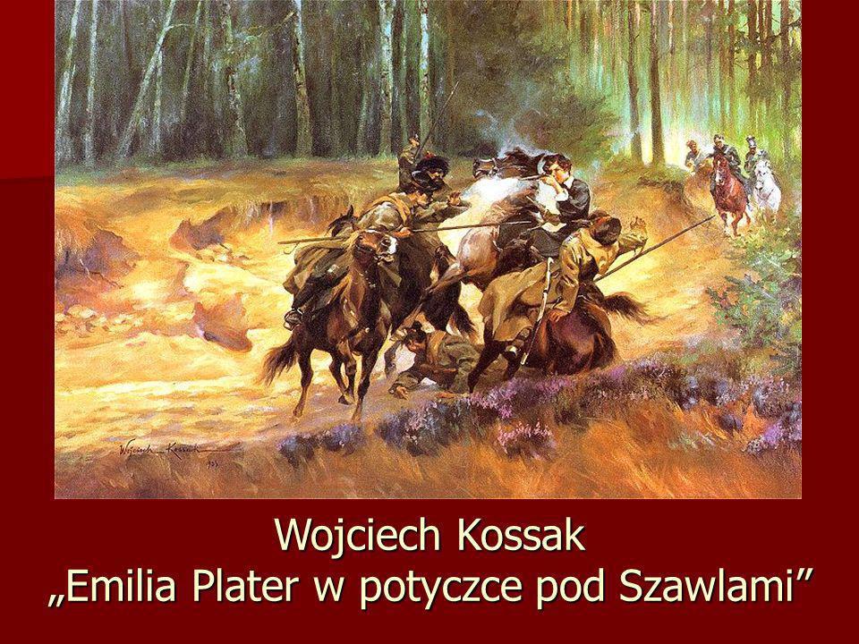 Wojciech Kossak Emilia Plater w potyczce pod Szawlami