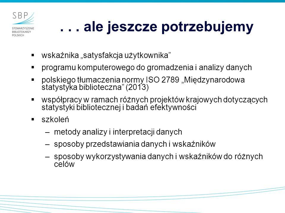 ... ale jeszcze potrzebujemy wskaźnika satysfakcja użytkownika programu komputerowego do gromadzenia i analizy danych polskiego tłumaczenia normy ISO