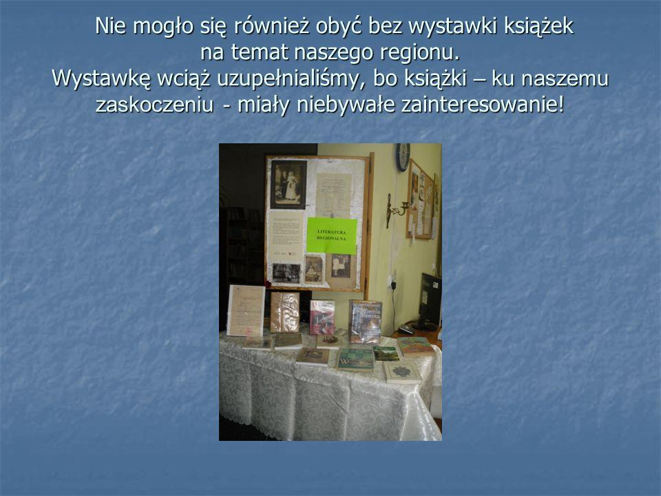 Nie mogło się również obyć bez wystawki książek na temat naszego regionu.