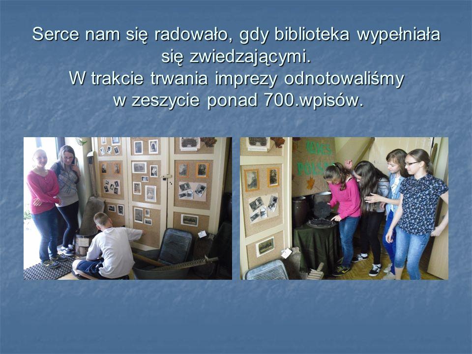 Serce nam się radowało, gdy biblioteka wypełniała się zwiedzającymi.