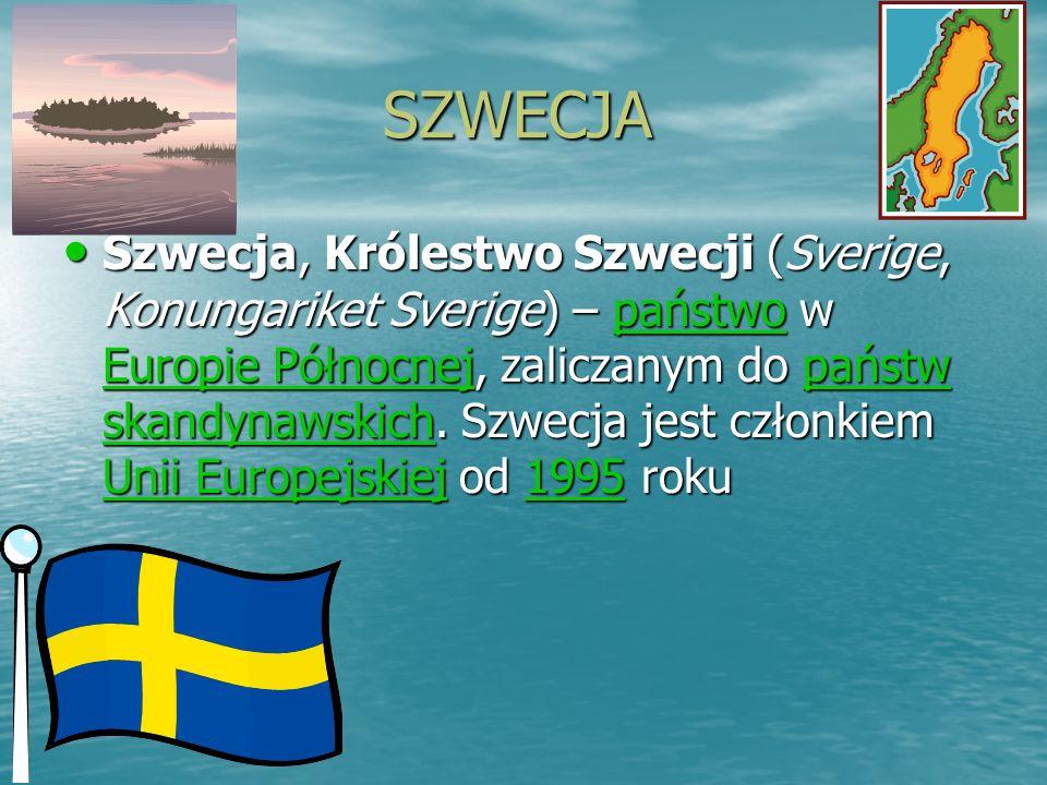 SZWECJA SZWECJA Szwecja, Królestwo Szwecji (Sverige, Konungariket Sverige) – p p p p p aaaa ńńńń ssss tttt wwww oooo w EEEE uuuu rrrr oooo pppp iiii e