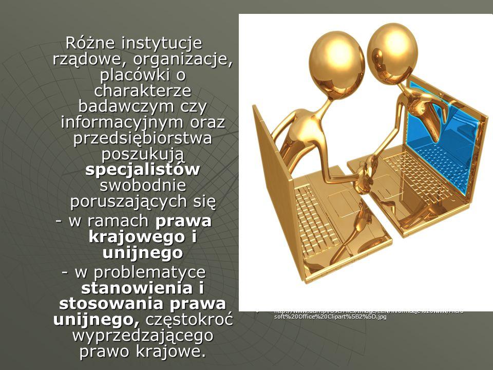 Różne instytucje rządowe, organizacje, placówki o charakterze badawczym czy informacyjnym oraz przedsiębiorstwa poszukują specjalistów swobodnie porus