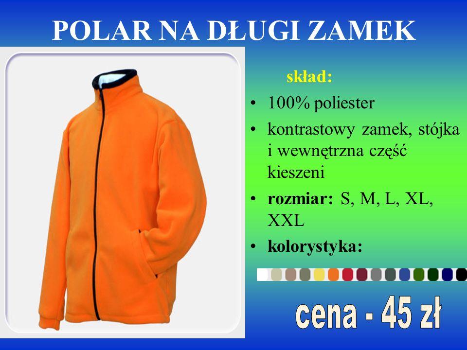 Bluza skład: 100% wysokogatunkowej bawełny lub 80% bawełny czesanej, 20% poliestru ściągacz z dodatkiem Lycry, ściągacze przy rękawach i u dołu bluzy