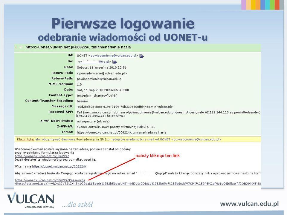 Pierwsze logowanie ustawienie hasła do UONET-u min.