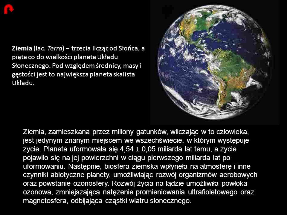 Ziemia (łac. Terra) trzecia licząc od Słońca, a piąta co do wielkości planeta Układu Słonecznego. Pod względem średnicy, masy i gęstości jest to najwi