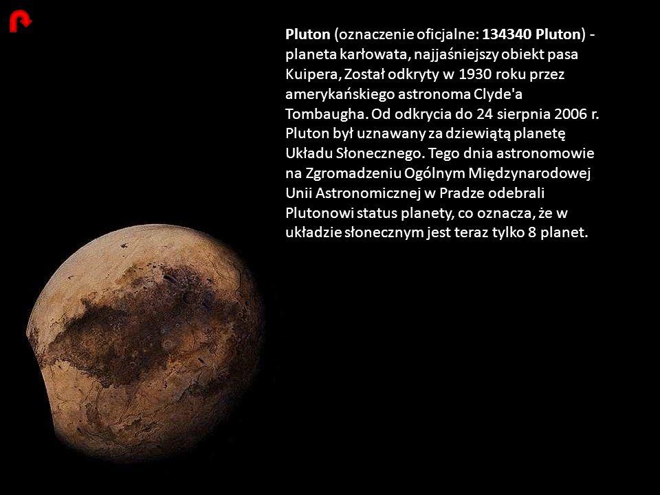 Pluton (oznaczenie oficjalne: 134340 Pluton) - planeta karłowata, najjaśniejszy obiekt pasa Kuipera, Został odkryty w 1930 roku przez amerykańskiego a