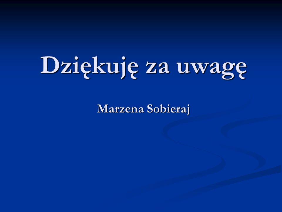 Dziękuję za uwagę Marzena Sobieraj