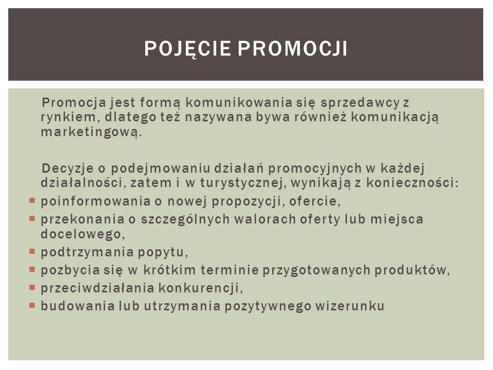 Promocja jest formą komunikowania się sprzedawcy z rynkiem, dlatego też nazywana bywa również komunikacją marketingową. Decyzje o podejmowaniu działań