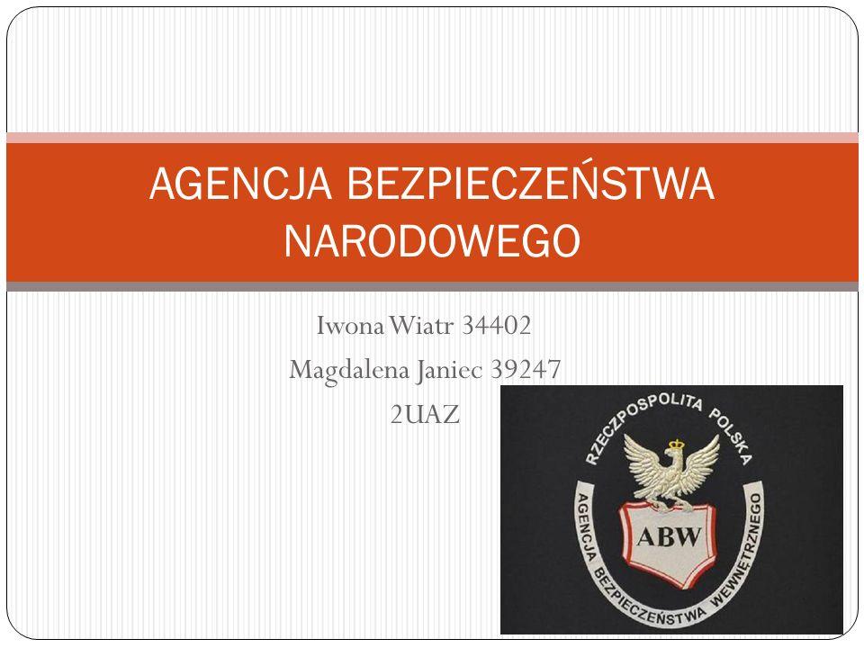 Agencja Bezpiecze ń stwa Wewn ę trznego jest słu ż b ą specjaln ą powołan ą do ochrony porz ą dku konstytucyjnego Rzeczpospolitej Polskiej.