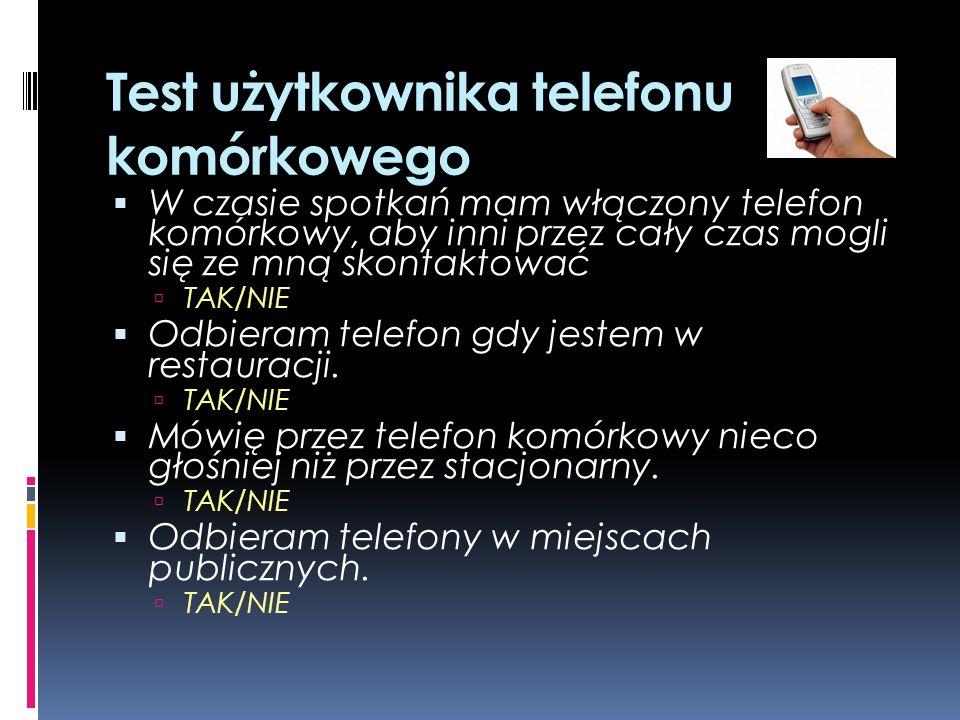 Zasady telefonowania Sfera prywatna: 8.00-20.00 w dni powszednie Sfera biznesowa: godziny pracy Trzy dzwonki Przedstawianie się Przełączanie rozmów Rozmowę kończy ten, kto telefonuje.