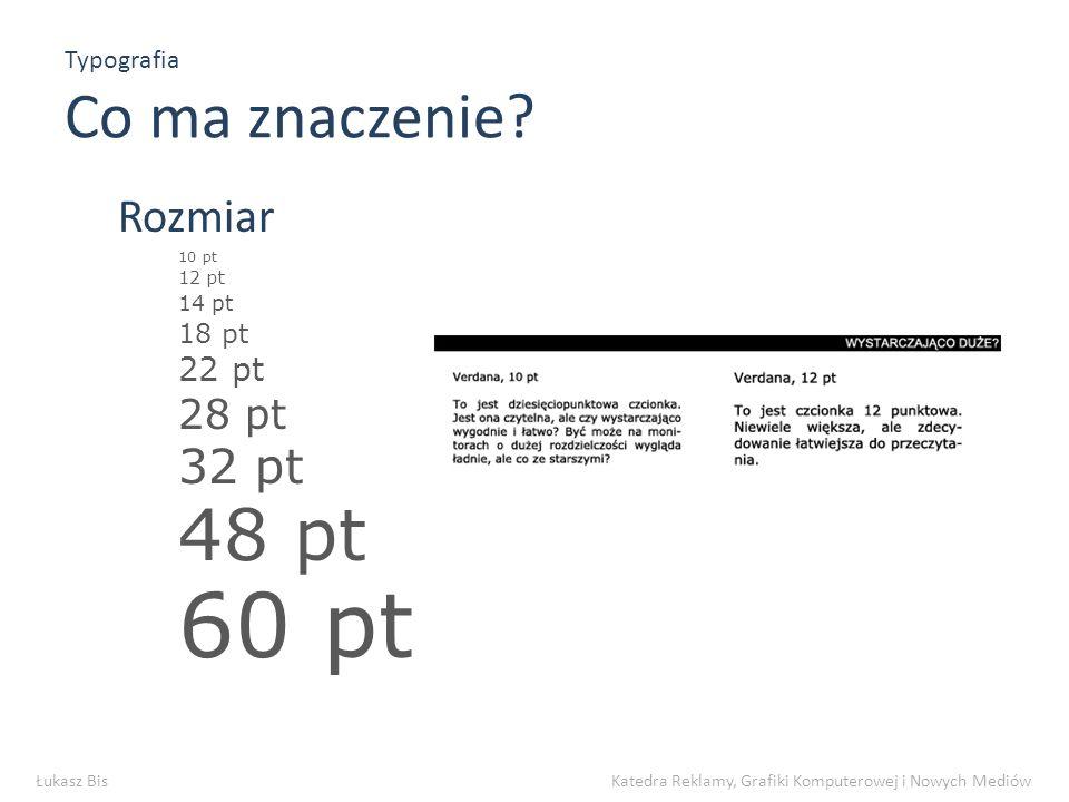Typografia Koniec Dzięki za uwagę Łukasz Bis Katedra Reklamy, Grafiki Komputerowej i Nowych Mediów