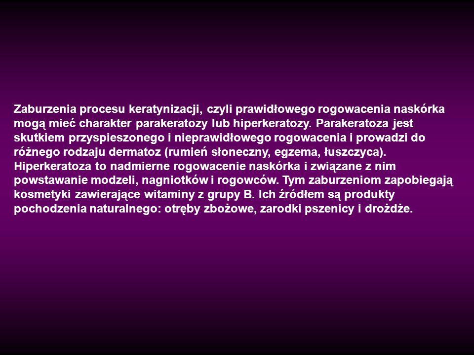 Zaburzenia procesu keratynizacji, czyli prawidłowego rogowacenia naskórka mogą mieć charakter parakeratozy lub hiperkeratozy. Parakeratoza jest skutki
