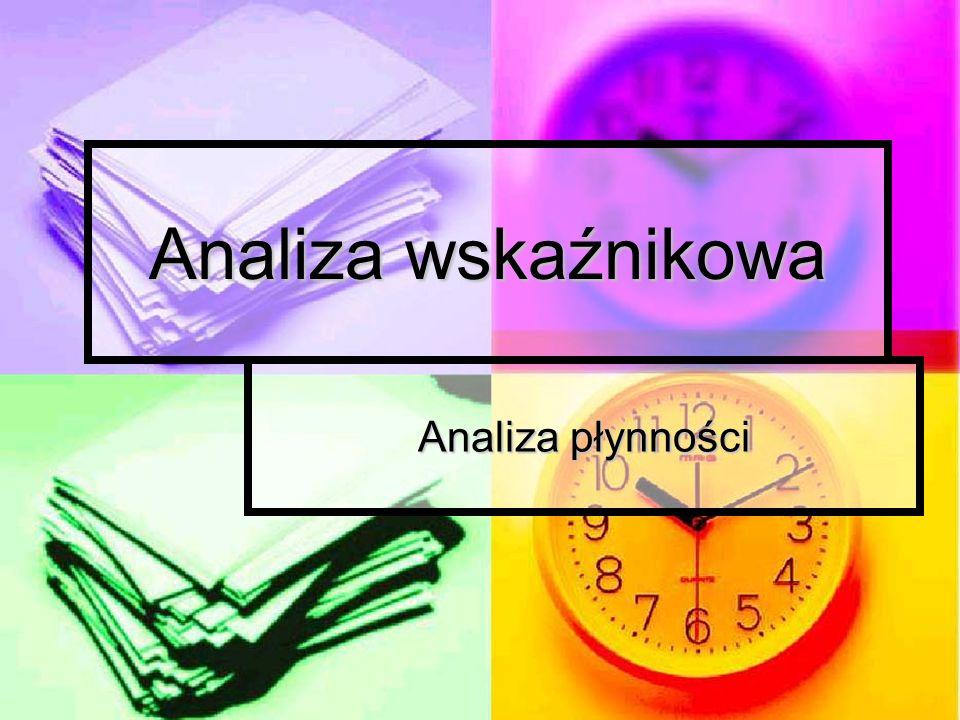 Analiza wskaźnikowa Analiza wskaźnikowa jest to metoda badań analitycznych polegająca na obliczaniu wskaźników na podstawie danych zawartych w sprawozdaniach finansowych i ich ocenie porównawczej w czasie i przestrzeni.