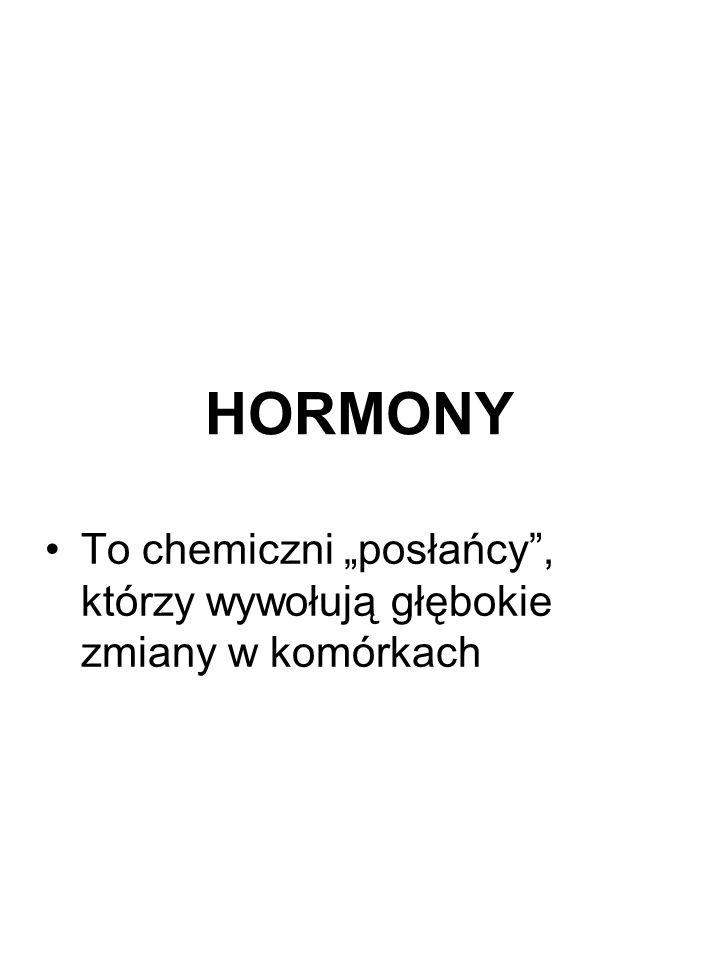 HORMONY To chemiczni posłańcy, którzy wywołują głębokie zmiany w komórkach