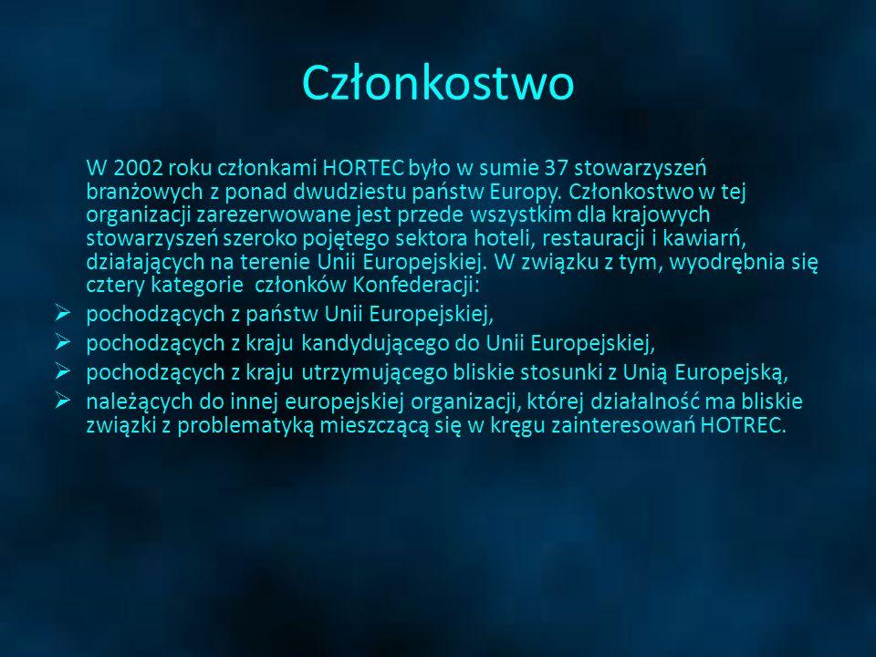 Członkostwo W 2002 roku członkami HORTEC było w sumie 37 stowarzyszeń branżowych z ponad dwudziestu państw Europy. Członkostwo w tej organizacji zarez