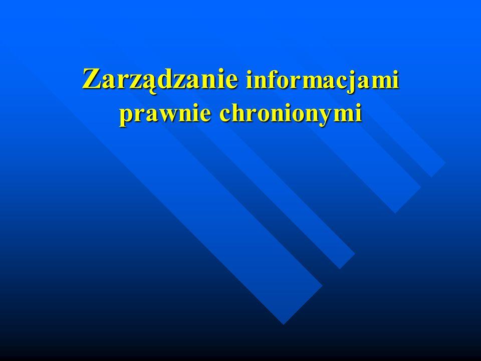 Zarządzanie informacjami prawnie chronionymi