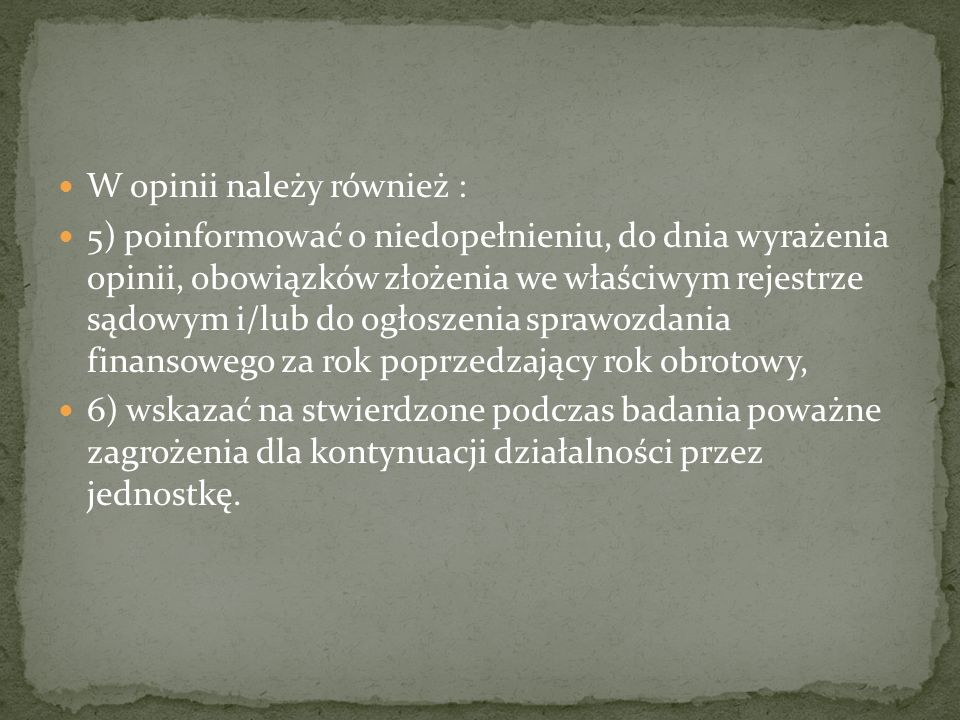 I.Tytuł i nazwa adresata opinii II.
