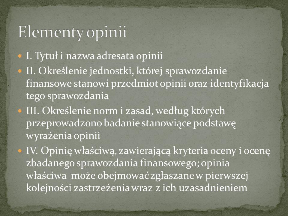 V.Ewentualne uzupełniające objaśnienia VI.