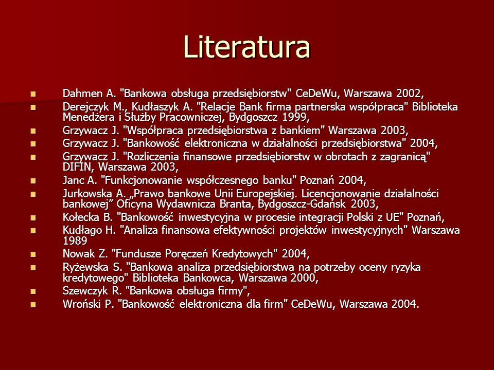 Literatura Dahmen A.