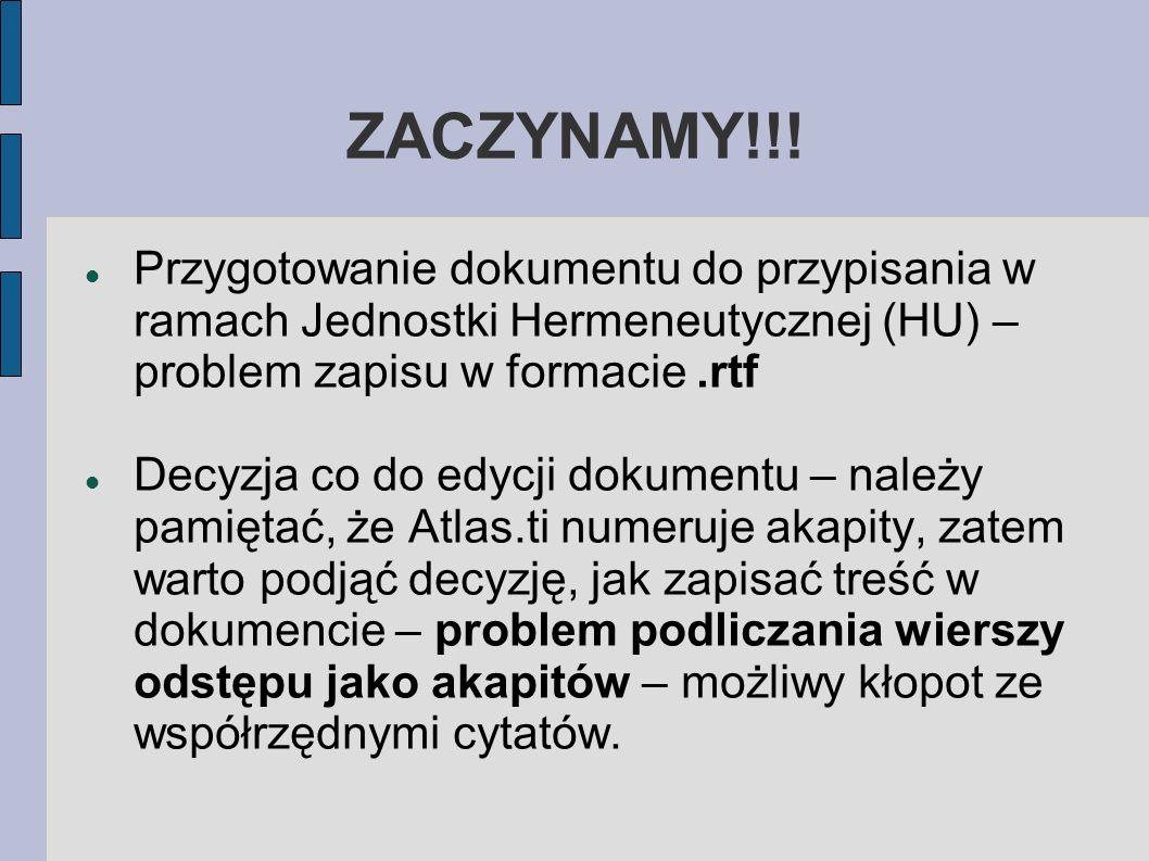 ZACZYNAMY!!.