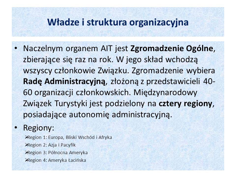 Władze i struktura organizacyjna Naczelnym organem AIT jest Zgromadzenie Ogólne, zbierające się raz na rok. W jego skład wchodzą wszyscy członkowie Zw