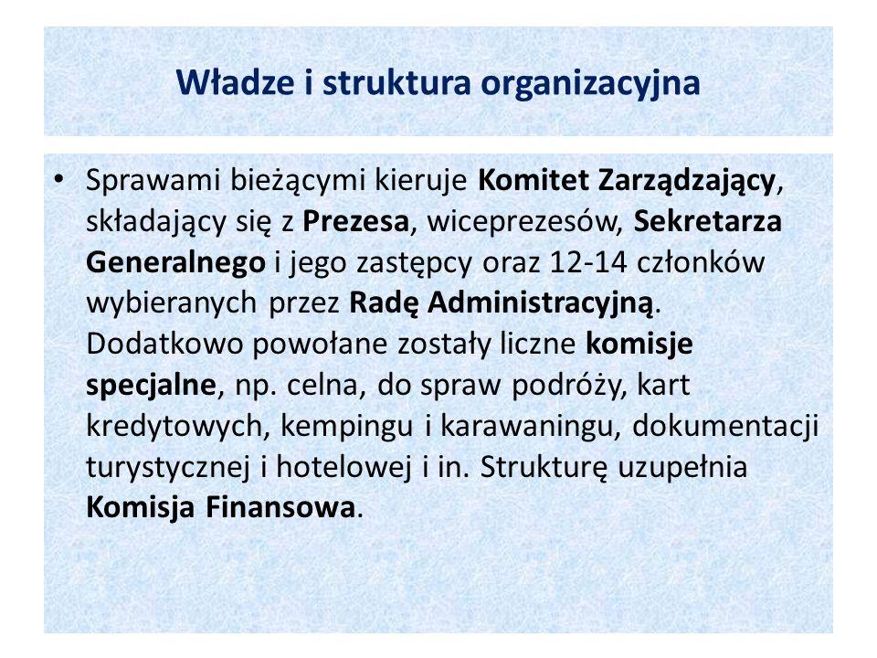 Władze i struktura organizacyjna Sprawami bieżącymi kieruje Komitet Zarządzający, składający się z Prezesa, wiceprezesów, Sekretarza Generalnego i jeg