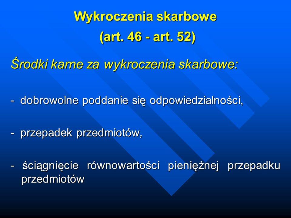 Wykroczenia skarbowe (art.46 - art.