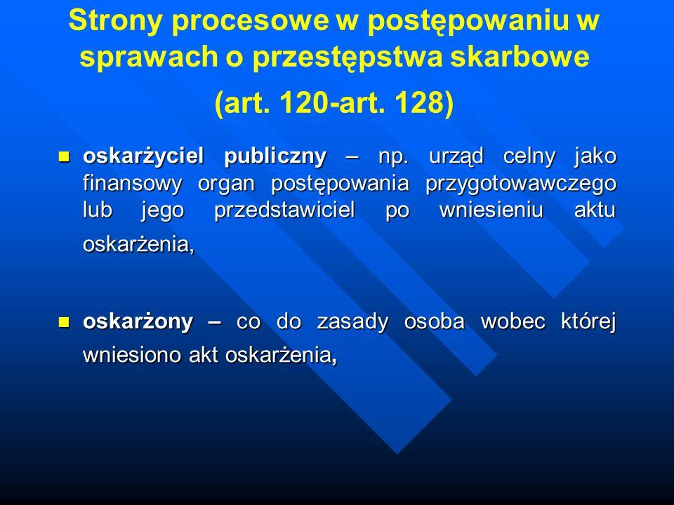 Strony procesowe w postępowaniu w sprawach o przestępstwa skarbowe (art.