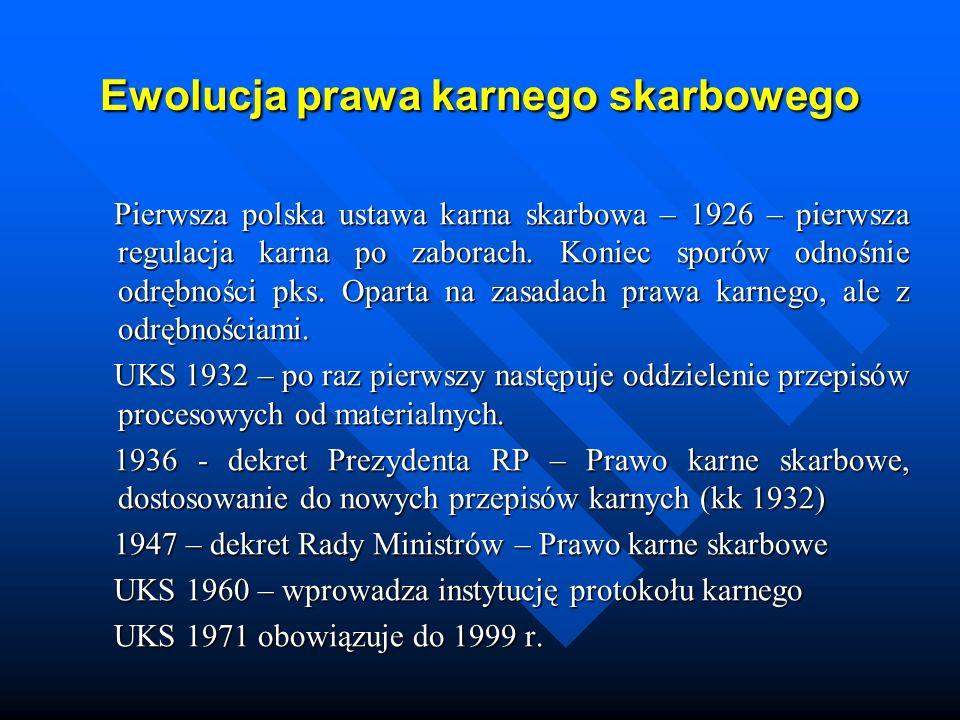 Ewolucja prawa karnego skarbowego 1989 r.