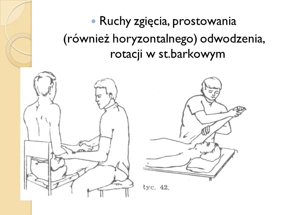 Ruchy w kkd Ruchy zgięcia i prostowania palców stóp Ruchy zgięcia i prostowania st.