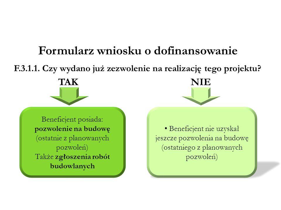 5 czerwca 2009 r.Ministerstwo Rozwoju Regionalnego Formularz wniosku o dofinansowanie F.3.1.1.
