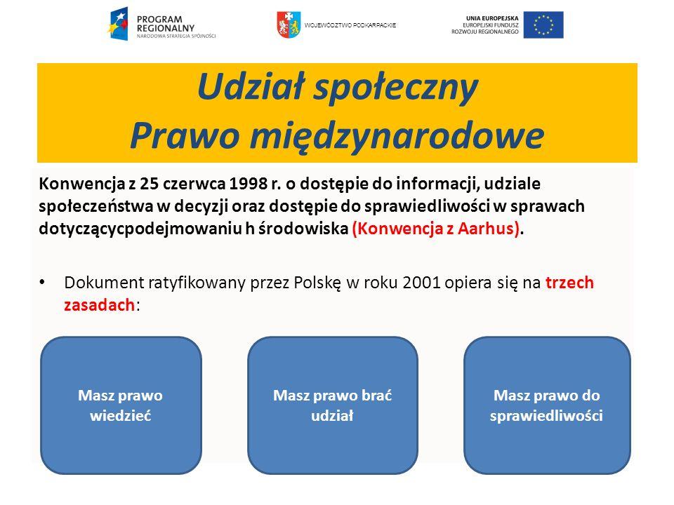 Konwencja z 25 czerwca 1998 r. o dostępie do informacji, udziale społeczeństwa w decyzji oraz dostępie do sprawiedliwości w sprawach dotyczącycpodejmo