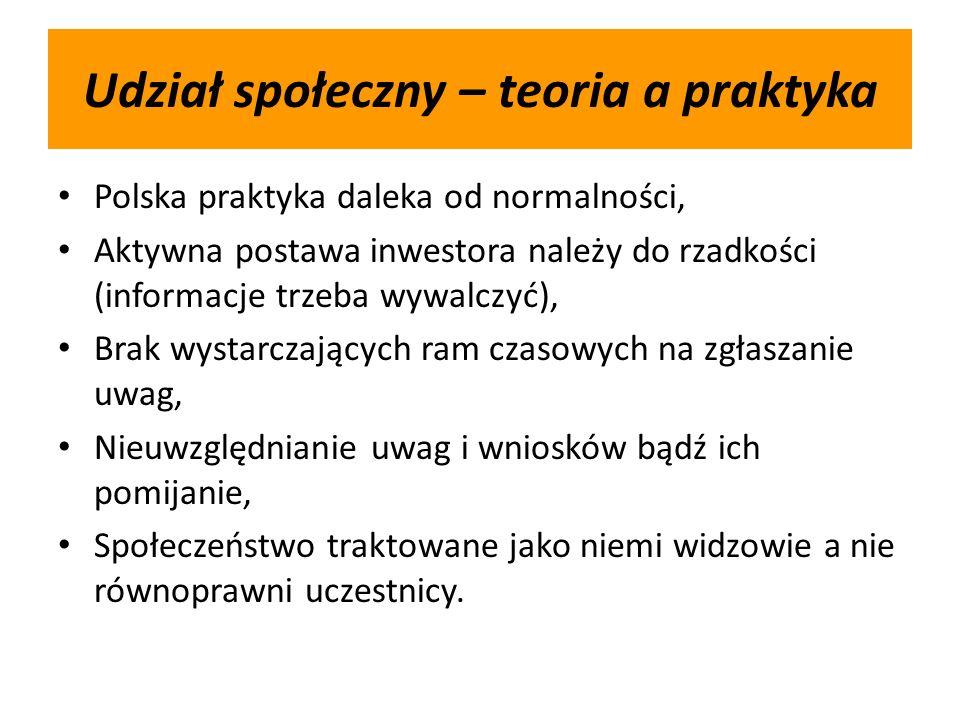 Udział społeczny – teoria a praktyka Polska praktyka daleka od normalności, Aktywna postawa inwestora należy do rzadkości (informacje trzeba wywalczyć